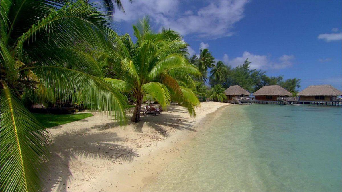 清新美图-马尔代夫海滩高清宽屏壁纸电脑待机图片www.sxhzla.com.cn